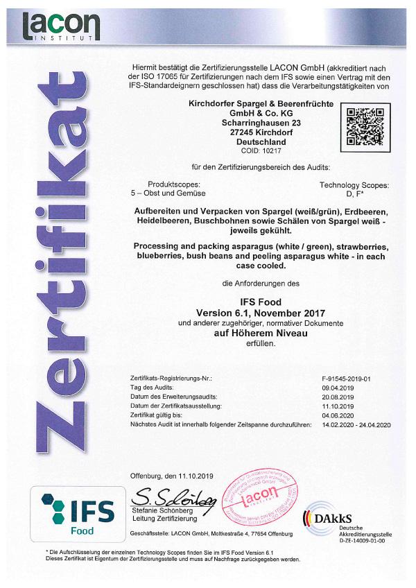 IFS-Zertifikat-Erweiterung