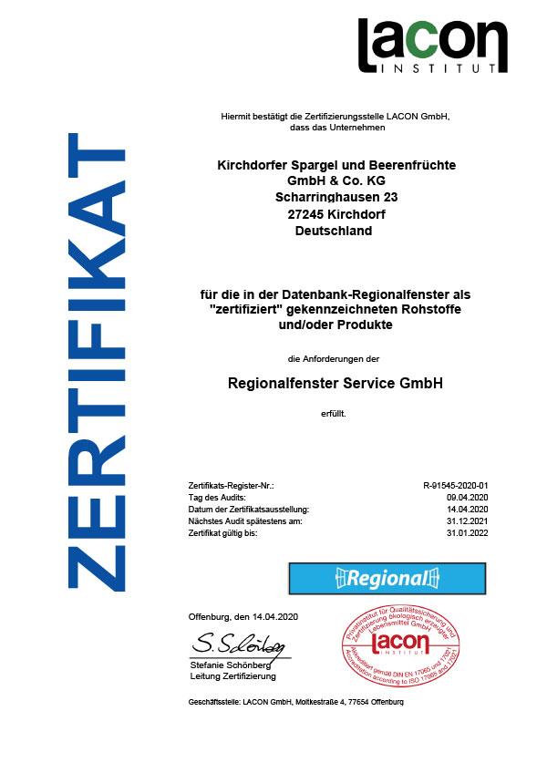 Regionalfenster-Zertifikat-Kirchdorfer-2020_web